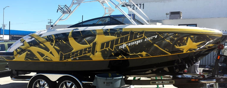 boat wrapping a torino urban wrap design